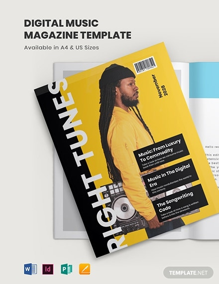 digital music magazine template 1