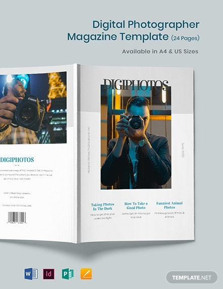 digital photographer magazine template 1