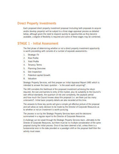 direct property investment proposal template