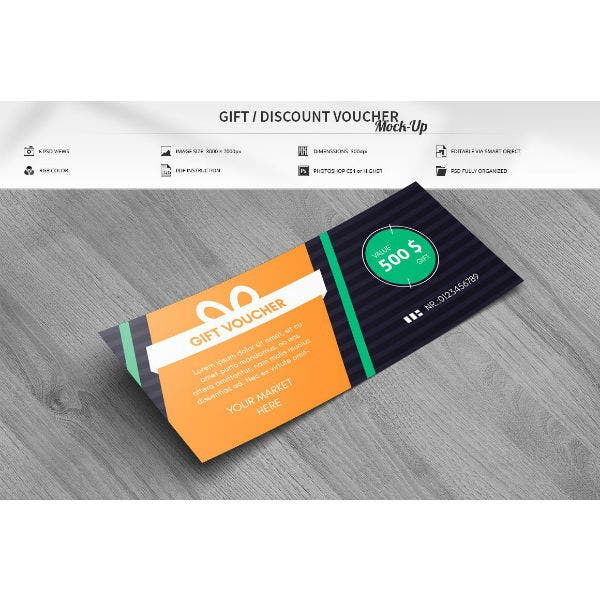 discount voucher mock up