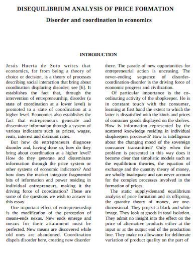 disequilibrium analysis