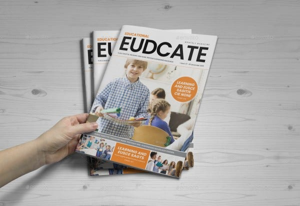 education magazine template