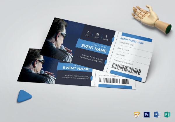 elegant event ticket template