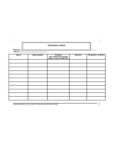 10  employee attendance sheet templates in pdf