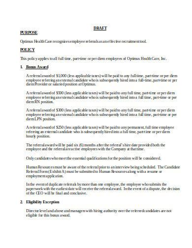 11  bonus policy templates in pdf