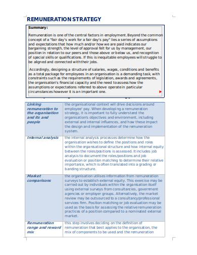 employment remuneration strategy