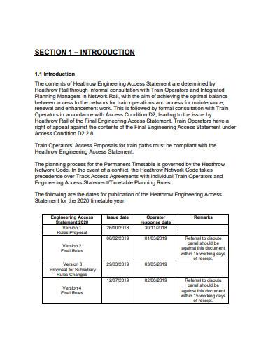 engineering access statement