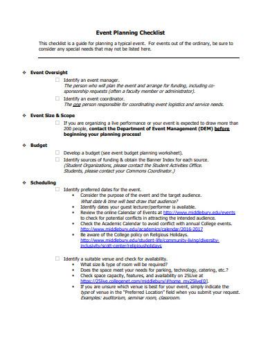 event budget planning logistics checklist template