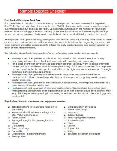 event registration logistics checklist template