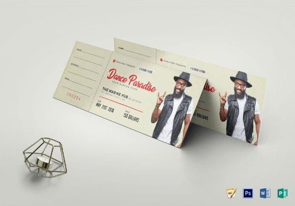 event ticket template 2