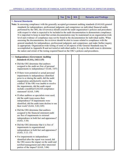 external financial audit checklist template