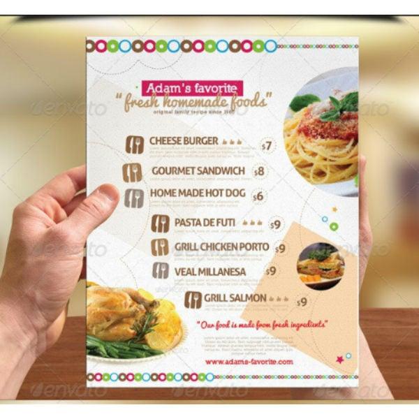 10  fancy menu in illustrator