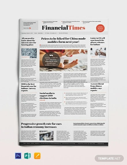 financial newspaper template