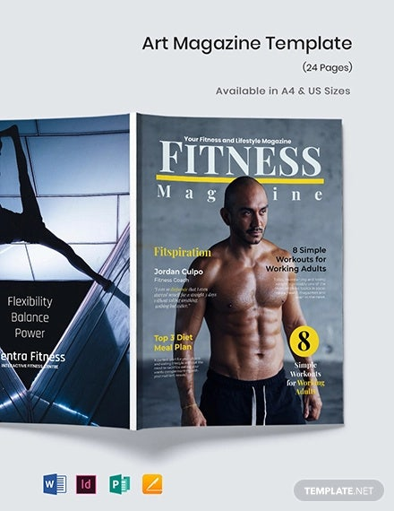 fitness magazine template