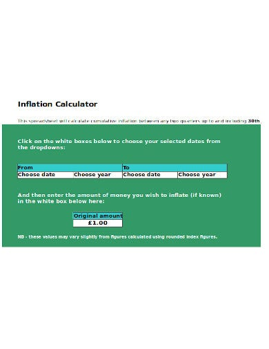 format of inflation calculator