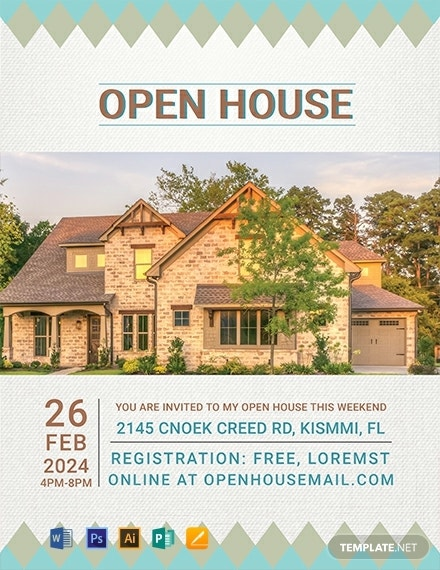 free cottage house real estate flyer template 440x570 1