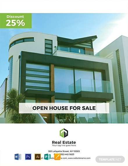 free country house real estate flyer template 440x570 1