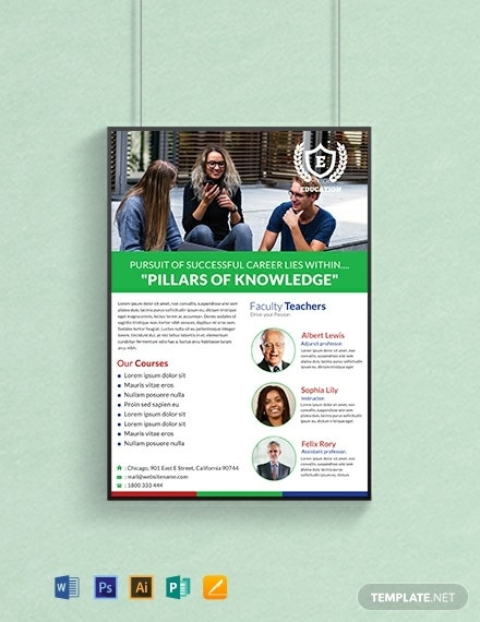 free education poster template 440x570 1