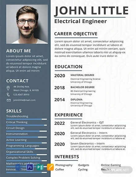 free electrical engineer fresher resume template1