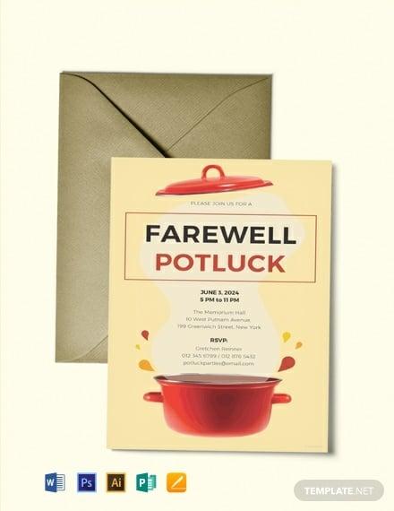 free farewell potluck invitation template 440x570 1