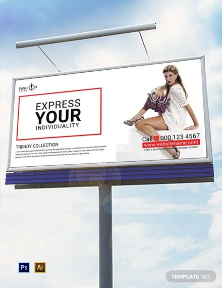 free fashion billboard template