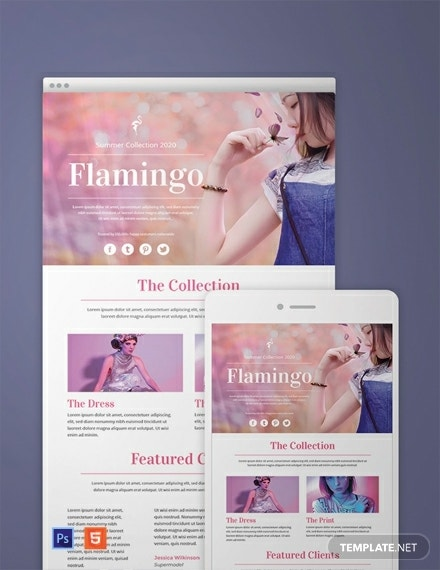 free fashion email newsletter template 440x570 1
