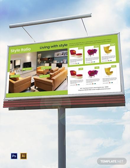free furniture store billboard