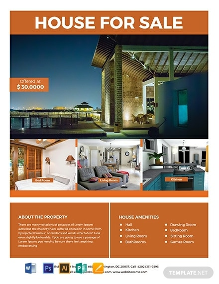 free house real estate flyer template 440x570 1
