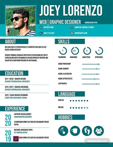 free internship cv template