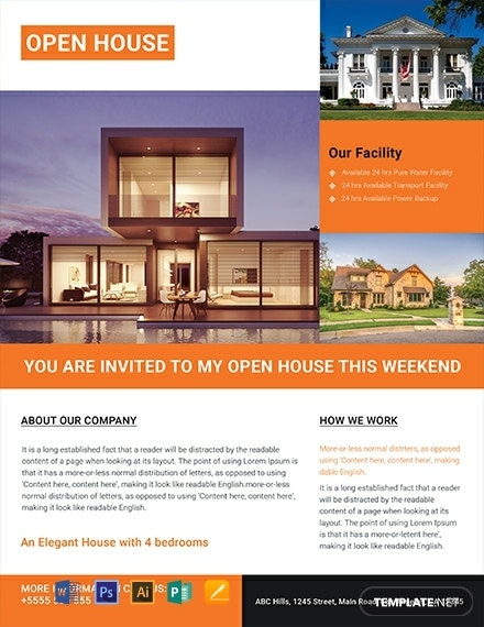 free luxurious house real estate flyer template 440x570 1