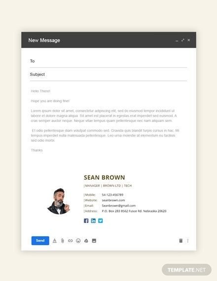 free manager email signature