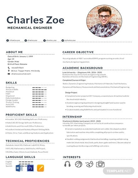 12 Fresher Engineer Resume Templates Pdf Doc Free Premium