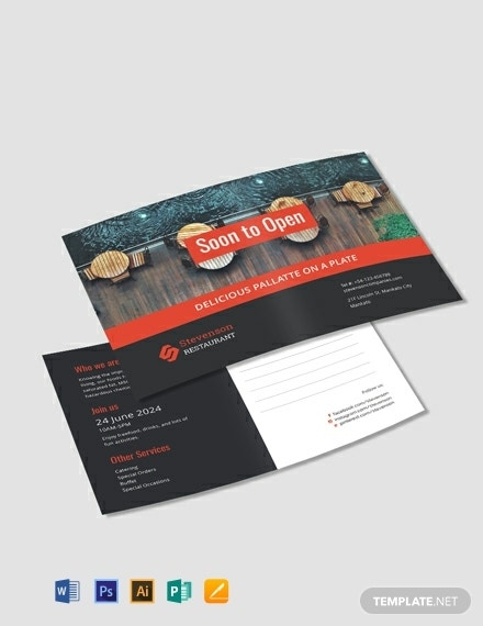 free new business announcement postcard template 440x570 1