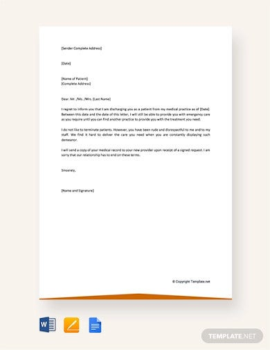 labace  sample patient dismissal letter from medical practice