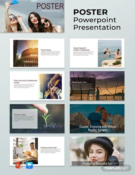 free poster powerpoint presentation template