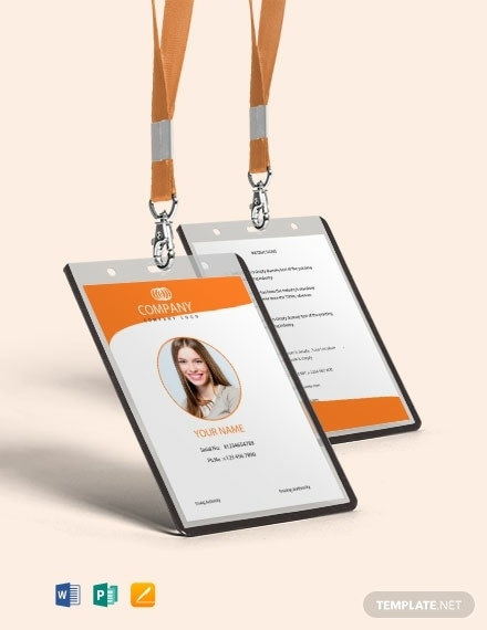 free professional id card template 440x570 11