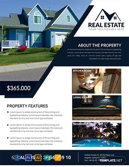 free real estate house flyer template 440x570 1