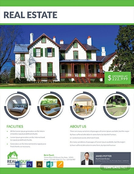 free real estate house sale flyer template 440x570 1