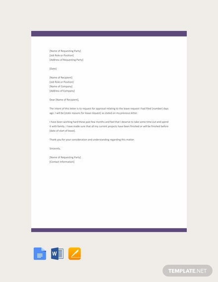 free request letter for approval template1
