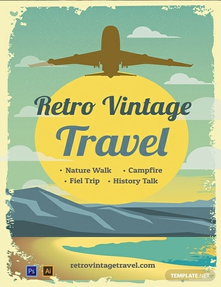 free retro vintage travel poster template 440x570 1