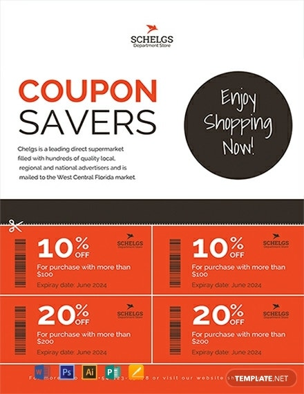 free sample coupon flyer template 440x570 1