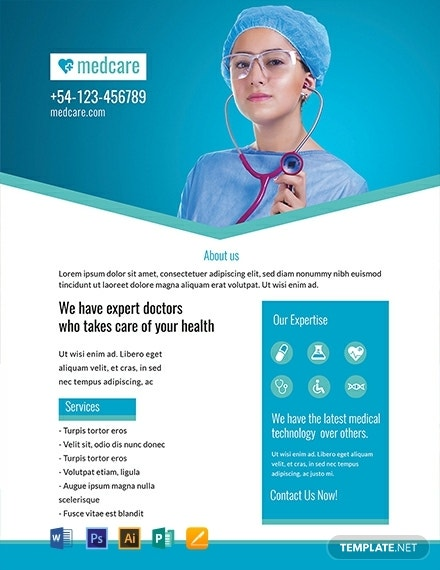 free sample medical flyer template 440x570 1