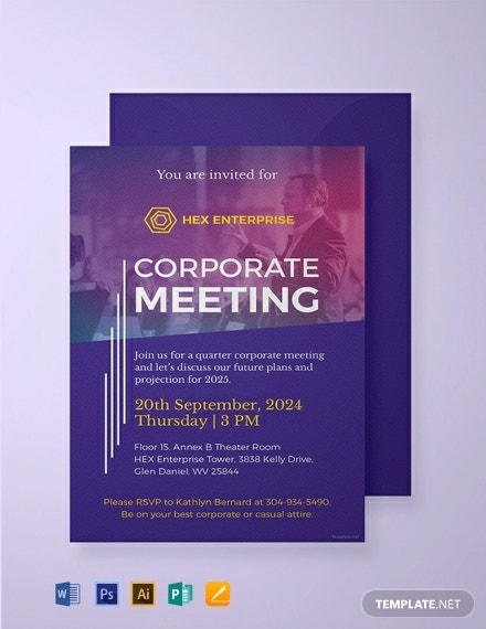 free sample meeting invitation template