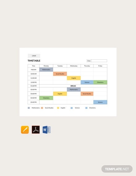 free school timetable template2
