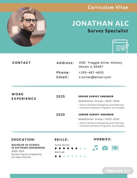 free surveyor cv template