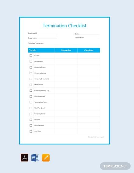 free termination checklist template 440x570 1