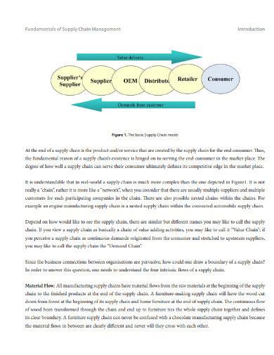fundamental supply chain management