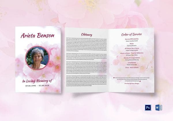 funeral bi fold brochure template 600x420