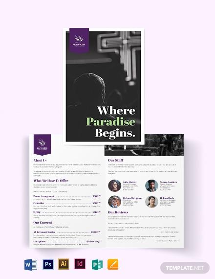 funeral home bi fold brochure template