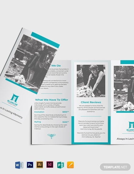 funeral home services tri fold brochure template